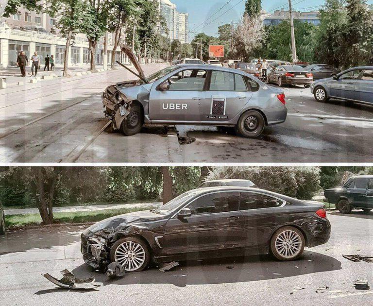 В Одессе столкнулись BMW и такси Uber