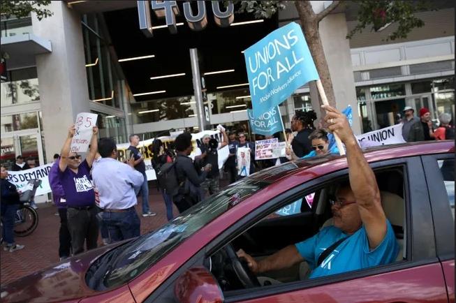 В Калифорнии обязали сервисы для заказа такси(Такие как Убер) нанимать водителей в штат.
