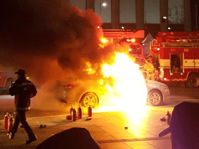 Протест против Uber и Kakao Mobility, акт самосожжения!