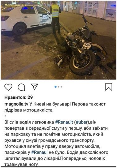 Uber дтп