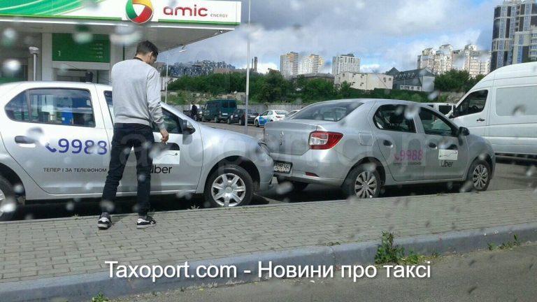 В Киев ДТП, Uber заехал в Uber