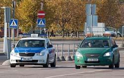 такси под чёрным флагом в Эстонии