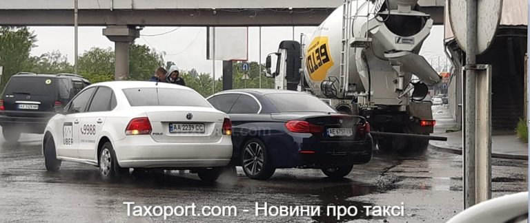 Киев, Uber и BMW не поделили дорогу