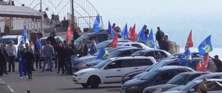 Политическая партия «ОПЗЖ» наняла таксистов для массовки и до конца не расплатилась (Видео)