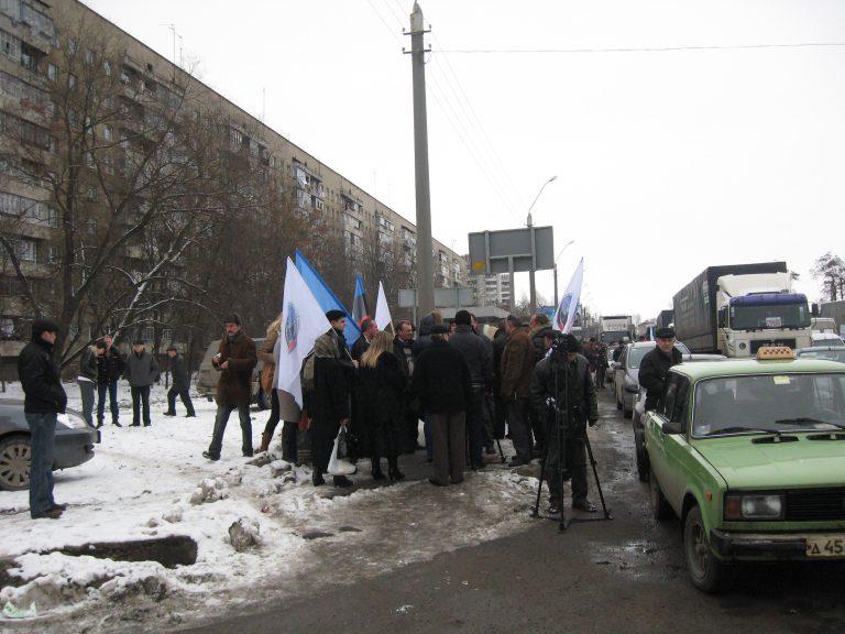 Акция протеста перевозчиков