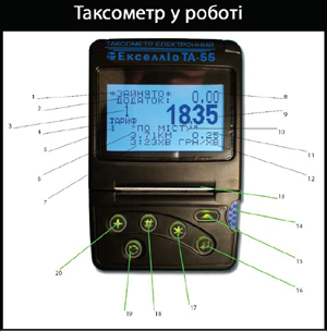 Таксометр Екселлио ТА-55