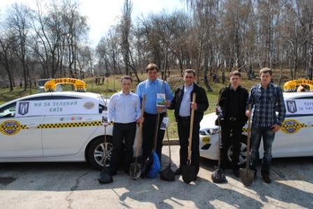 Київські таксомоторні перевізники долучилися до загальноміської толоки