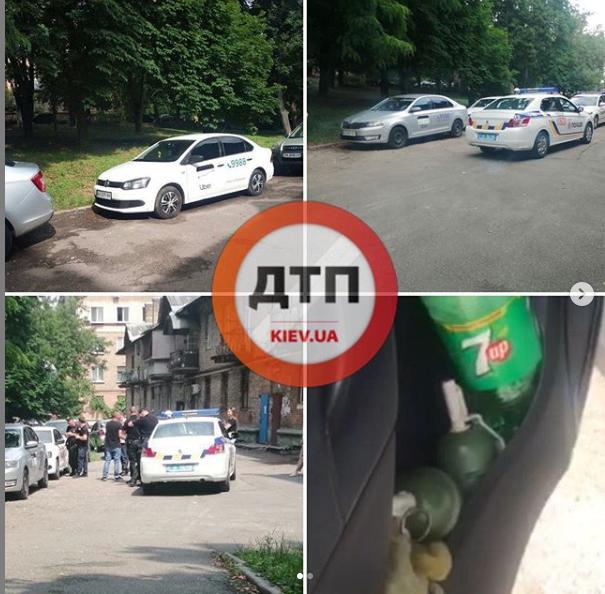 Гранаты в такси Uber обнаружили в Киеве (Видео)