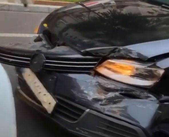 Uklon совершил ДТП в Киеве на Пушкинской (Видео)