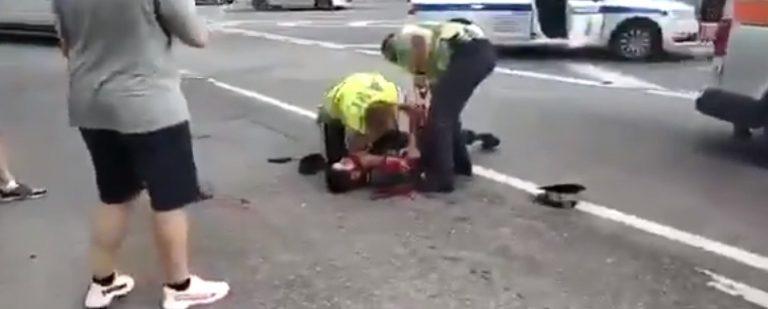 В Москве таксист открыл огонь по полицейским (ВИДЕО 18+)