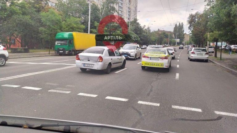Автомобиль Uklon попал в ДТП