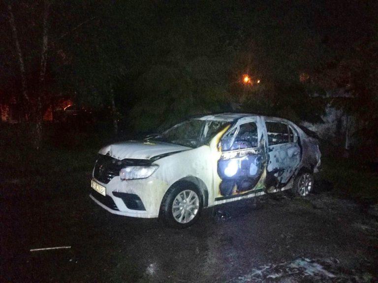 У Львові згорів автомобіль Bolt (Відео)