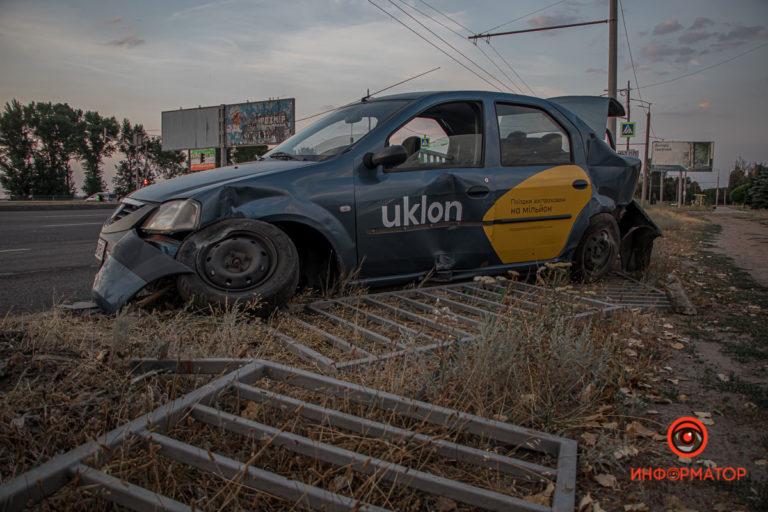 В Днепре случилось ДТП за участием Uklon, есть пострадавшие (Видео)