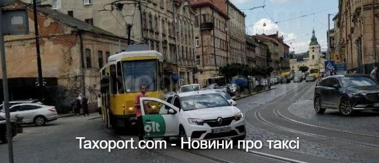 У Львові ДТП за участю трамвая і Bolt
