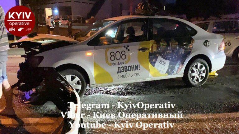 Таксі 808 потрапило у ДТП, Київ