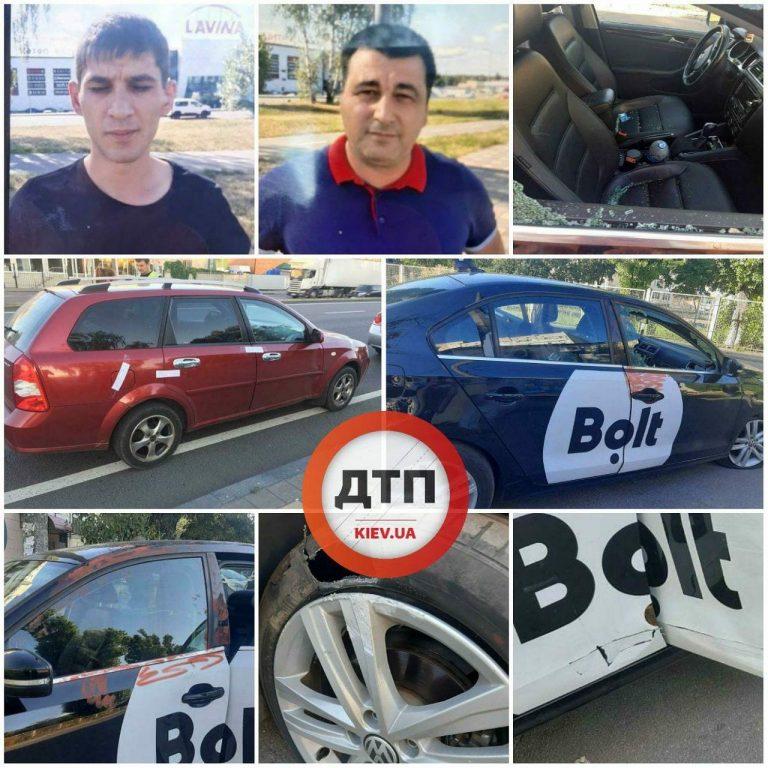 Иностранцы избили водителя Bolt и автомобиль.