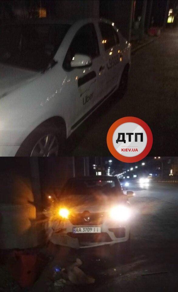 Ночное ДТП в Киеве на Шулявке с участием Uber