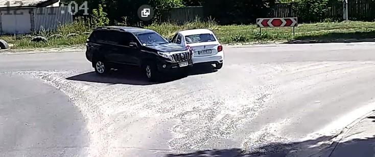 С.Вита-Почтовая, дтп с Uber (Видео)