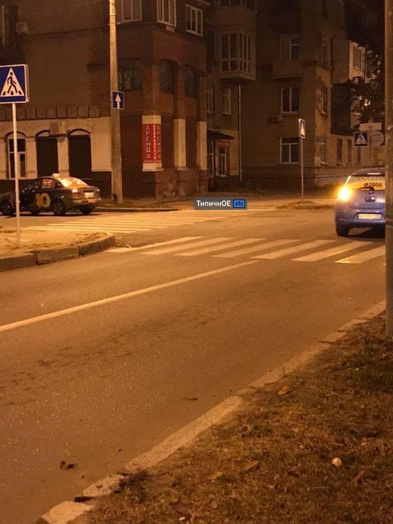 В Харькове ДТП, два автомобиля такси не поделили дорогу