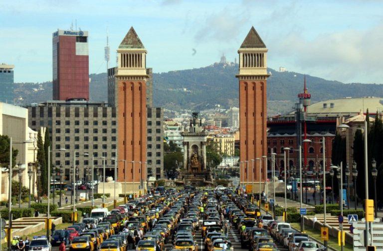 В Барселоне протест против Cabify и Uber